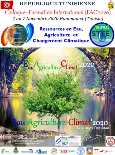 Colloque-Formation International Eau–Agriculture–Climat'2021 (EAC-2020) : 04 au 09 Octobre 2021